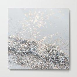 Silver Gray Glitter #2 #shiny #decor #art #society6 Metal Print