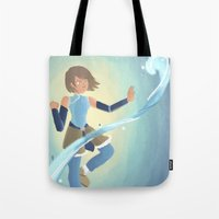 the legend of korra Tote Bags featuring [Legend of Korra] Water by samarasketch