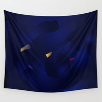 interstellar Wall Tapestries featuring Interstellar Storm by k_c_s