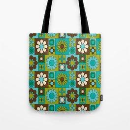 Flower power retro design Tote Bag