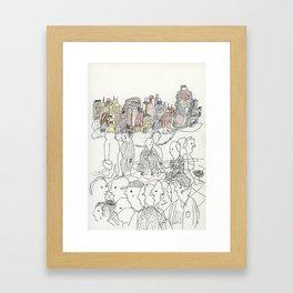 NYC buildings Framed Art Print