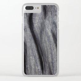 Striped linen textile Clear iPhone Case