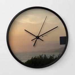 PCH: Santa Barbara to LA Gull at Sunset Wall Clock