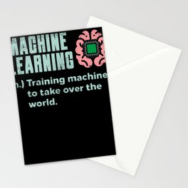 Machine Learning Training Machines To Take Over The World Stationery Cards