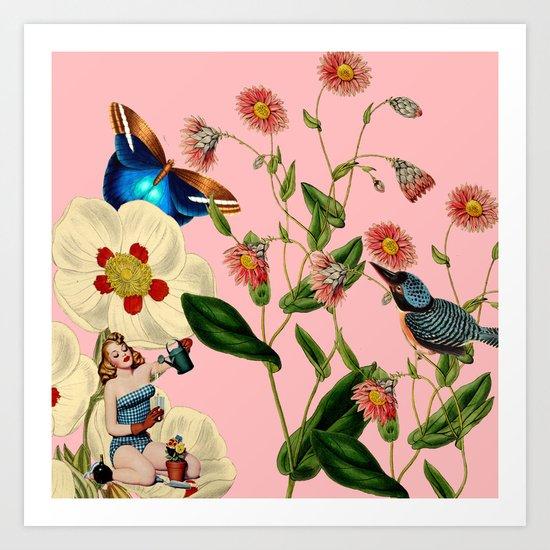 Big Flowers dream pink by snexus
