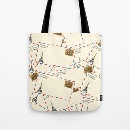Paris Envelopes Tote Bag