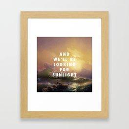 Ivan Aivazovsky, The Ninth Wave (1850) / Halsey, Roman Holiday (2015) Framed Art Print
