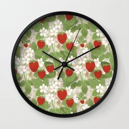 Strawberry. Wall Clock