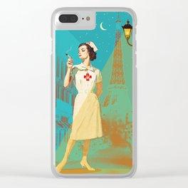 NIGHT NURSE Clear iPhone Case