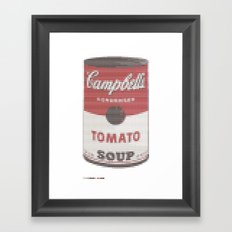 Pantone as pixel Campbell Framed Art Print