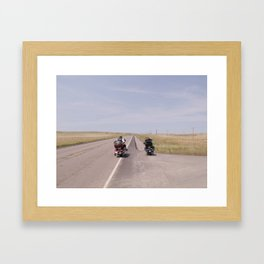 long road Framed Art Print