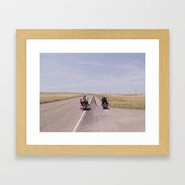 long road Framed Art Print