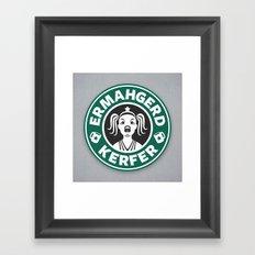 Ermahgerd, Kerfer! Framed Art Print