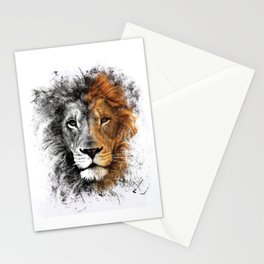 Two Face Lion  Stationery Cards