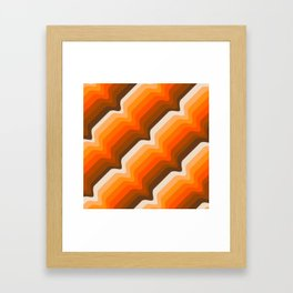Golden Wave Framed Art Print