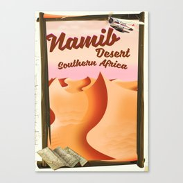 Namib Desert Vintage style travel print Canvas Print