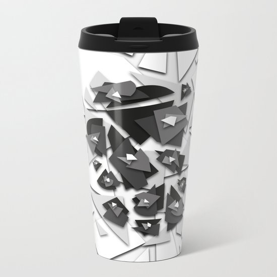 Effecting Geometry Metal Travel Mug
