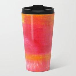 'Summer Day'  Orange Red Yellow Abstract Art Travel Mug