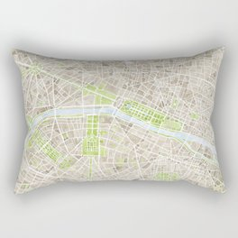 Paris SGB Watercolor Map Rectangular Pillow