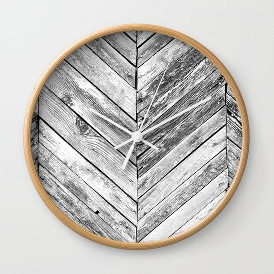 antique wood wall clock by patterns and textures society6