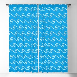 Wave Pattern | Waves | Nautical Patterns | Turquoise Blue and White | Blackout Curtain