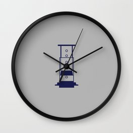 Blue Aeropress Wall Clock