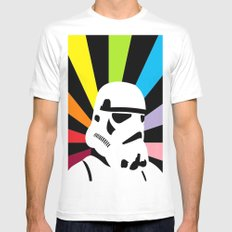After the Storm... Rainbow Trooper White Mens Fitted Tee MEDIUM