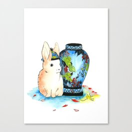 Lapin Chinoiserie Canvas Print