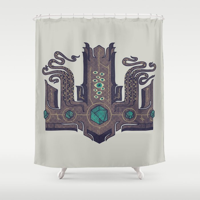 The Crown Of Cthulhu Shower Curtain By Againstbound