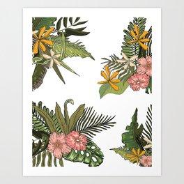 Palm Bouquets Art Print