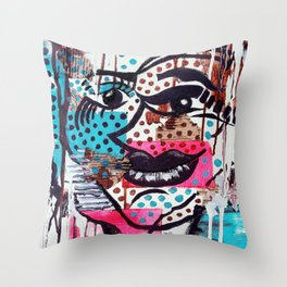 The Dynamic Expressions of Lucy  Throw Pillow