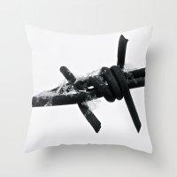 snowflake Throw Pillows featuring Snowflake by Kaitlin Callender