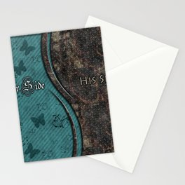 Steampunk His Side Her Side Stationery Cards