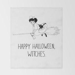Happy Halloween, Witches! Throw Blanket