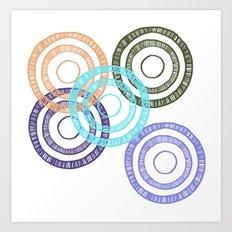 Bianca Circle Art Print