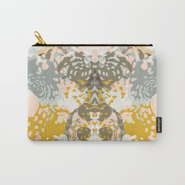 Hutton - Modern abstract painting for home decor and cell phone cases in gold grey mint white Carry-All Pouch