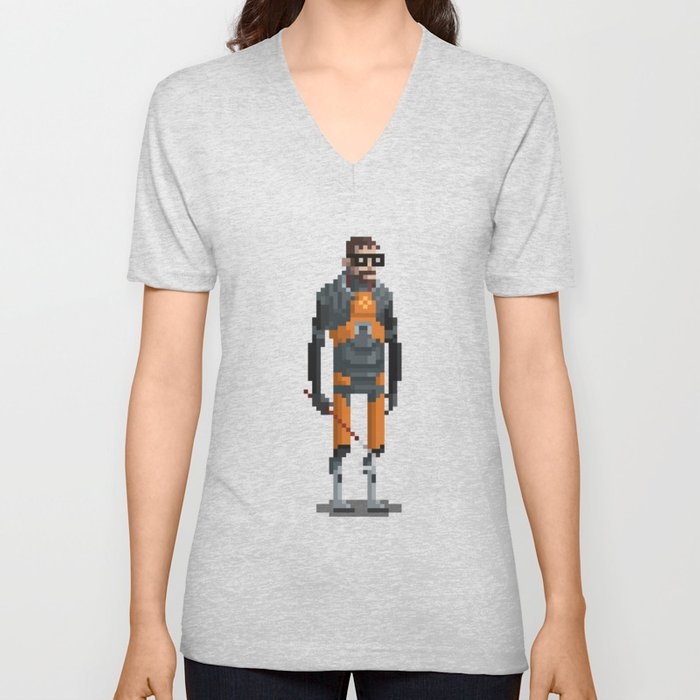 Man With a Crowbar Unisex V-Neck