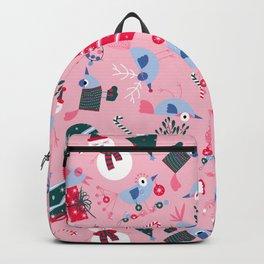 Christmas Birdies - Pink Backpack