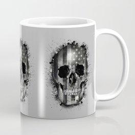 usa black and white skull Coffee Mug