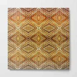 Memories of Woven Grass, Straw Metal Print