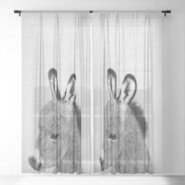 Donkey - Black & White Sheer Curtain