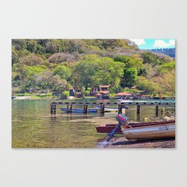 Gold lake Canvas Print