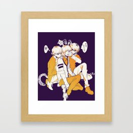 tfboys halloween Framed Art Print