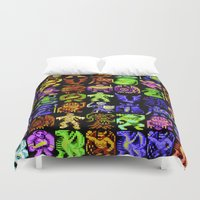 monsters Duvet Covers featuring Monsters by noirlac