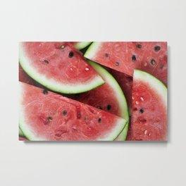 Pink Watermelon Metal Print