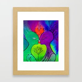 Sketch of Dream about Co-creation Framed Art Print