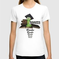bookworm T-shirts featuring Cute bookworm by nicky2342