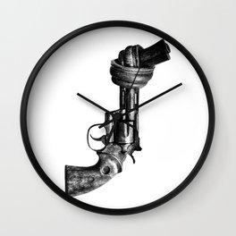 Twisted gun Wall Clock