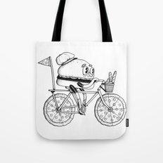 Pizzabike Burger Tote Bag