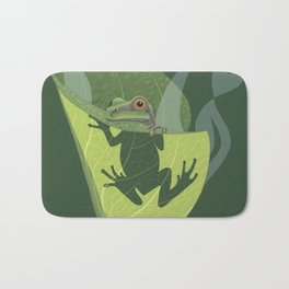 Pacific Tree Frog in Skunk Cabbage Bath Mat